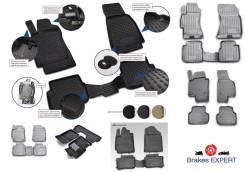 Комплект резиновых автомобильных ковриков 3D в салон LADA Kalina, 2004->, 4 шт. (полиуретан)