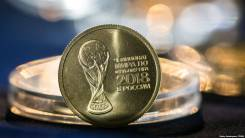 25 рублей 2018 ММД Футбол, Эмблема FIFA UNC в Капсуле