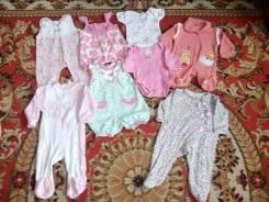 Вещи на девочку с рождения и до 6 месяцев. Рост: 50-56, 56-62, 62-68 см