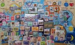 Более 105 почтовых марок Мира. Есть нечастые и дорогие! За 1 рубль!