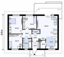 Строительство каменный одноэтажный дома под ключ за 3.750.000