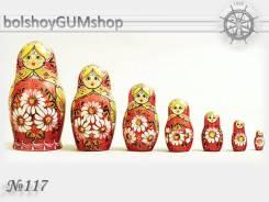 Матрешка российская (оригинал) 7 предметов 75х140 - suv-7-117