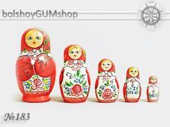 Матрешка российская (оригинал) 5 предметов 60х110 - suv-5-183