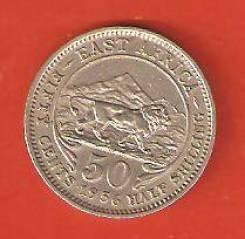 50 цент 1956 г. Восточная Африка. Не частая.
