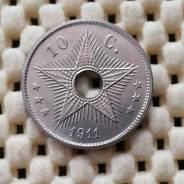 Бельгийское Конго 10 центов 1911г CuNi