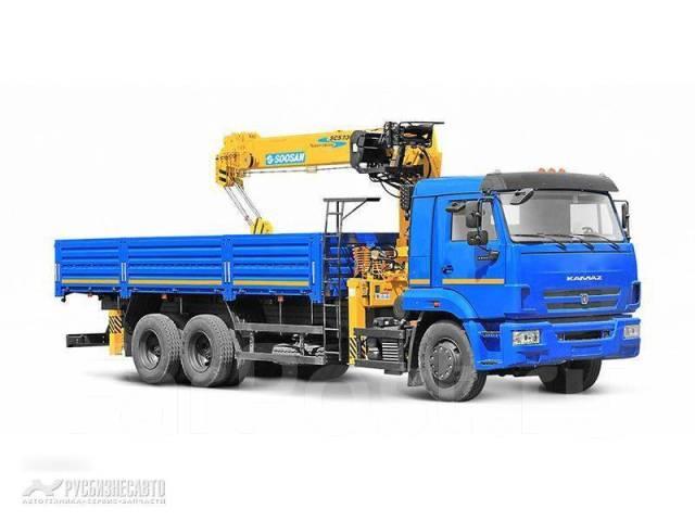 КамАЗ 65117. КМУ Камаз 65117-3010-23+Soosan SCS746L верх. упр. + борт сталь 6,8м., 6 700 куб. см., 7 000 кг.