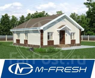 M-fresh Optimum Bonus! -зеркальный (Проект дома с удобной планировкой). 100-200 кв. м., 1 этаж, 4 комнаты, бетон