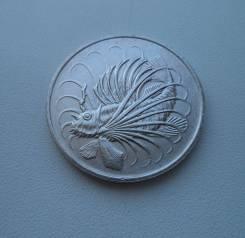 """Сингапур, 50 центов 1974 - рыбка """"Лев"""" - без оборота"""
