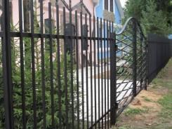 Стальной забор из профильной трубы