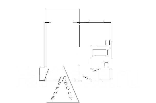 1-комнатная, улица Леонова 33. Эгершельд, агентство, 33 кв.м. План квартиры