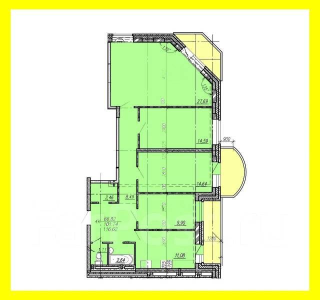 4-комнатная, улица Александра Зеленского 34. Междуречье, частное лицо, 117кв.м. План квартиры