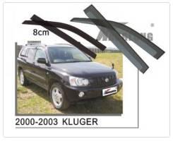 Ветровик на дверь. Toyota Kluger V Toyota Highlander, ACU20, ACU20L, ACU25, ACU25L, MCU20, MCU20L, MCU23, MCU23L, MCU25, MCU25L, MCU28, MCU28L, MHU23...