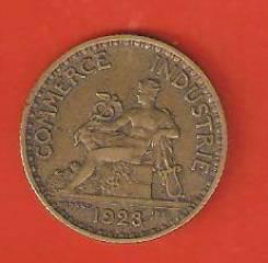 1 франк 1923 г. Франция. Не частая.
