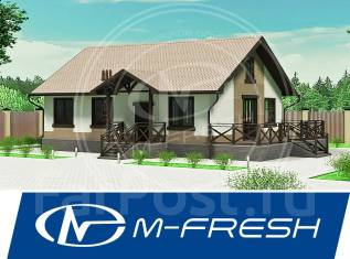 M-fresh Tili-Tili Wood! -зеркальный (Готовый проект дома из бруса). 100-200 кв. м., 1 этаж, 3 комнаты, дерево