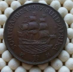 Южная Африка 1 пенни 1937г