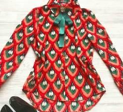 Бутик Шмотница! Рубашка (брошка в комплекте). 40-48