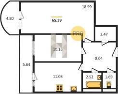 2х-ком. 65 кв. в ЖК Варяг-Центр на 2х-ком. в районе 3 Рабочая-1000 мел. От агентства недвижимости (посредник)