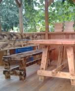 Изготовление столов, скамеек, стульев для беседок, дач, саун.