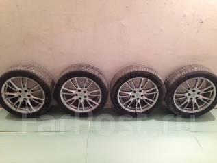 Продам разноширокие колёса Infiniti R18 245(225)/45 - лето Bridgestone. 8.0/7.0x18 5x114.30