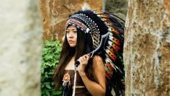 Головной убор вождя индейца, роуч, Аренда для фотосессий