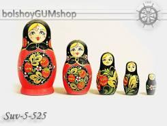 Матрешка российская (оригинал) 5 предметов 48х90 - suv-5-525