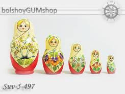 Матрешка российская (оригинал) 5 предметов 60х110 - suv-5-497