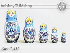 Матрешка российская (оригинал) 5 предметов 65*132 - suv-5-432