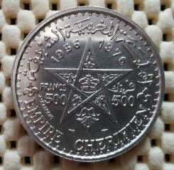 Марроко 500 франков 1956г UNC Ag900
