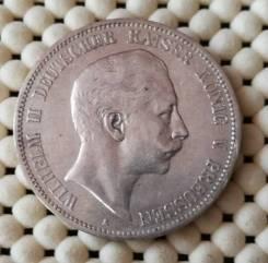 Германия (Пруссия) 5 марок 1907г Ag900