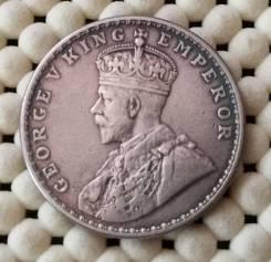 Британская Индия 1 рупия 1918г Ag917