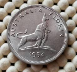 Австралия 1 флорин 1954г UNC Ag500