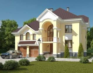Проект для строительства коттеджа 236м2 с 6 жилыми комнатами
