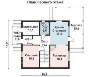 Проект для строительства коттеджа 188м2 с 6 жилыми комнатами