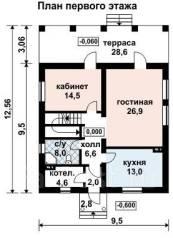 Проект для строительства коттеджа 148м2 с 5 жилыми комнатами