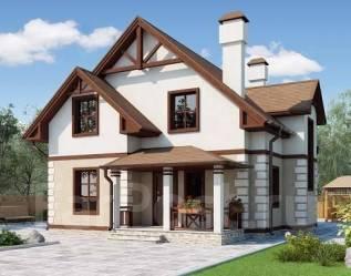 Проект для строительства коттеджа 145м2 с 6 жилыми комнатами