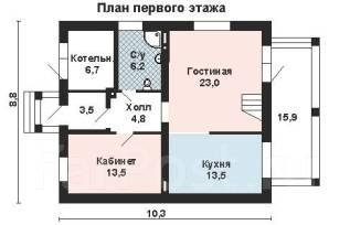 Проект для строительства коттеджа 143м2 с 6 жилыми комнатами