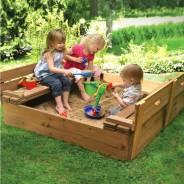 Детские песочницы, мебель и площадки из дерева. От производителя!. Под заказ