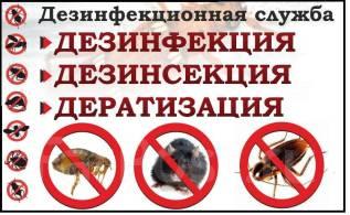 Дизинсекция, Дезинфекция, уничтожение тараканов, клопов, блох, клещей.