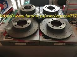 Диск тормозной. Toyota Land Cruiser Prado, GRJ120, GRJ120W, GRJ125, GRJ125W, KDJ120, KDJ120W, KDJ125, KDJ125W, RZJ120, RZJ120W, RZJ125, RZJ125W, TRJ12...
