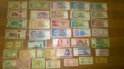 38 разных Иностранных Банкноты.