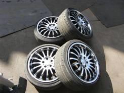 "Хромированные колеса Enkei 18"" TMW 5x114.3 на летней резине. 8.0/9.0x18 5x114.30 ET38/38 ЦО 73,1мм."