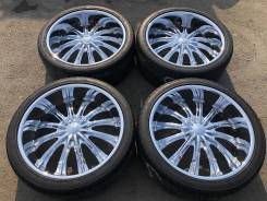 "Зеркальные Мега-Полки Borghini 295/35/24 Infinity QX56, Nissan Patrol. 10.0x24"" 6x139.70 ET13 ЦО 108,0мм."