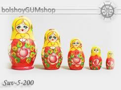 Матрешка российская (оригинал) 5 предметов 60х110 - suv-5-200