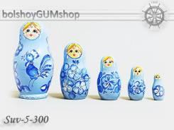 Матрешка российская (оригинал) 5 предметов 60*110 - suv-5-300