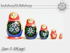 Матрешка российская (оригинал) 5 предметов 52х80 - suv-5-39 м/р