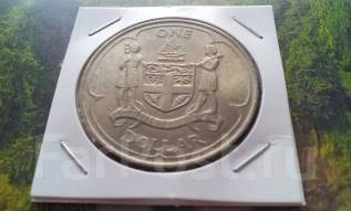 Фиджи. Огромный редкий 1 доллар 1969 года. Спец. цена! Флот. Старый тип