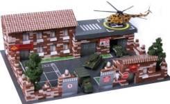 """Конструктор. Архитектурное моделирование """"Военная база"""" 1460 деталей"""