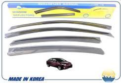 Дефлекторы окон Black (к-т 4шт) Hyundai Solaris 4d (10-) AMDDK164 AMD AMDDK164