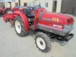 Mitsubishi MT. Мини-трактор пр. Япония Mitsubishi 22 л/с., дизель, 4 ВД. Видео