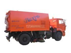 Кургандормаш КО-318. Подметально-уборочная машина КО-318 Д (две всасывающие шахты), 10 000куб. см.